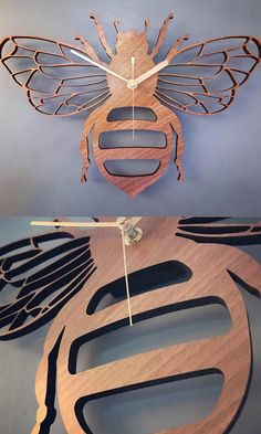 Honey Bee Clock - Wooden Honey Bee Clock