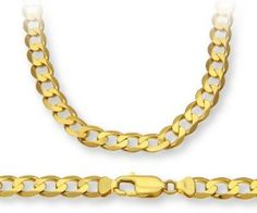ChainCo 9ct Yellow Gold 28g Curb Necklace of  51cm/20 Inch Length and  7.3mm Width - http://www.wonderfulworldofjewelry.com/jewelry/chainco-9ct-yellow-gold-28g-curb-necklace-of-51cm20-inch-length-and-73mm-width-couk/ - Your First Choice for Jewelry and Jewellery Accessories