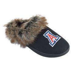 Women's Arizona Wildcats Scuff Slippers, Black