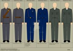 My idea for CIC crew uniforms aboard a Battlestar. Note: These are a mix of Canon and non-canon concepts Original Uniform base by: [link] BSG Bridge Crew Uniforms Navy Uniforms, Police Uniforms, Kiba And Akamaru, Future Soldier, Naval History, United States Navy, Battlestar Galactica, Royal Navy, Types Of Collars