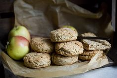 Vegan & Gluten-free Apple & Oat Biscuits from Green Kitchen Stories