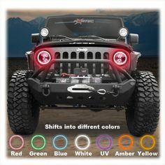 Oracle Complete Head Light Kit with Halo LED Light Ring for 07-up Jeep® Wrangler JK