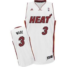 67b54f1fa8b Youth Dwyane Wade Swingman In White Adidas NBA Miami Heat  3 Home Jersey  Dwyane Wade