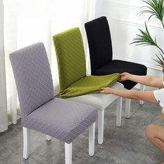 Offer 50%! Dining Room Chair Covers, Dining Room Chairs, Tire Chairs, Stretch Chair Covers, Dining Room Images, Sofa Covers, Black Chair Covers, Seat Covers For Chairs, Home Projects