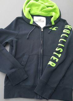 Hollister Hoodie Blue Full Zip Hooded Sweat Jacket Size XL #Hollister #Hoodie