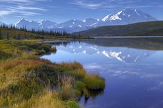 Wonder Lake, Denali Wilderness in Alaska. By Rodney Lough, Jr. Read more at http://wilderness.smithsonian.com/vote/vote-180952419/#U3R5Y1tpaYPTdXs8.99