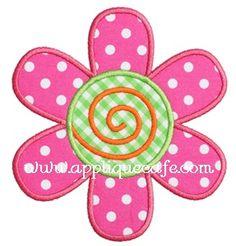 Flower 6 Applique Design