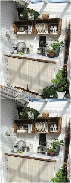 Wooden fruit crates are far easier to find than the ordinary industrial pallets!Pallet Fruit Crates Kitchen Shelves