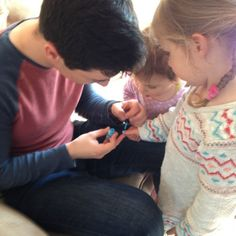 the kids paining their nails