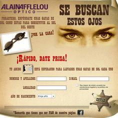 Se buscan estos ojos con Alain Afflelou