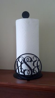 Monogrammed Metal Paper Towel Holder by QualityToolingLLC on Etsy, $37.50- Want this!!