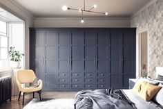 Classic Blue Elise fitted bedroom from My Fitted Bedroom. Pantone colour of the year Classic Blue home interior inspiration. Bedroom Built In Wardrobe, Fitted Bedroom Furniture, Fitted Bedrooms, Closet Bedroom, Fitted Bedroom Wardrobes, Modern Fitted Wardrobes, Blue Bedrooms, Bedroom Storage, Bedroom Decor