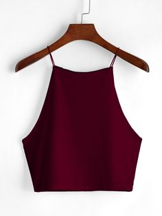 SheIn offers Wine Red Cami Top & more to fit your… Shop Wine Red Cami Top online. SheIn offers Wine Red Cami Top & more to fit your fashionable needs. Girls Fashion Clothes, Teen Fashion Outfits, Outfits For Teens, Teenager Outfits, Crop Top Outfits, Cute Casual Outfits, Dress Outfits, Red Top Outfit, Dresses