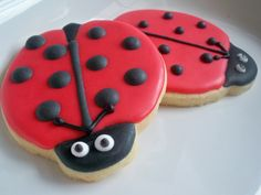Ladybug+Cookies | Ladybug Cookies, Ladybug Favors, Ladybug Decorated Cookies