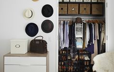 Customise your wardrobe with interior solutions like shelves, drawers and storage boxes
