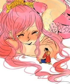 Shirahoshi and Luffy