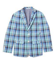 Medium Teal Plaid Jacket - Kids & Tween