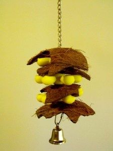 DIY Coconut Parrot Toy - PetDIYs.com