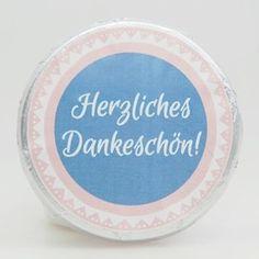 Schokotaler Herzliches Dankeschön Decorative Plates, Guest Gifts, Marriage Anniversary