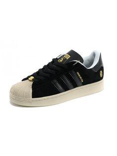 Adidas Super Ape Star Mens Trainers Camo Canvas Black Gold {zZVH5}