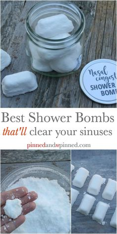 Nasal congestion shower bombs