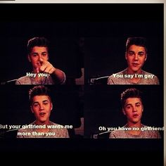 Hahaso true why do people call Justin Bieber gay ? Cause they are haters !! What did he ever did to you ? I love his songs and I respect him Deal with it @justinbieber
