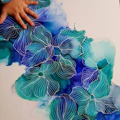 Blue Amaryllis Flower Painting Alcohol Ink Painting Colorful Art Original Art Wall Art Gifts for Her Alcohol Ink Painting, Alcohol Ink Art, Silk Painting, Painting & Drawing, Painting Flowers, Blue Painting, Painting Walls, Drawing Flowers, Drawing Drawing