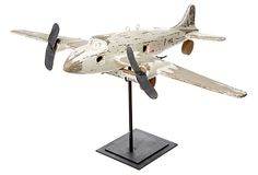 """16"""" Toy Plane on Stand  love this. In honor of my grandpa <3"""