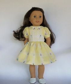 Hey, I found this really awesome Etsy listing at https://www.etsy.com/listing/506732284/18-inch-doll-clothes-yellow-dress