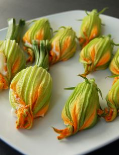 Zucchini flowers. One of the most delicious things you will ever try... Now I just need to find a place that sells them.