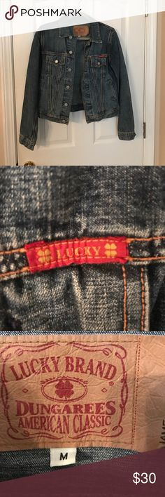 Lucky Brand Jean Jacket Excellent condition!   Lucky brand jean jacket. Lucky Brand Jackets & Coats Jean Jackets
