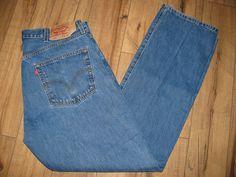 Levis 501 Mens Levi Blue Jeans 38 X 33 Button Fly Original Fit #Levis #OriginalFit