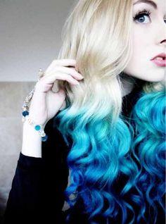 cabello pintado de colores teñido - Buscar con Google