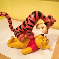 Winnie the Pooh bounce statue