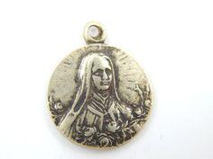 Vintage Saint Therese of Lisieux Catholic Medal  by LuxMeaChristus