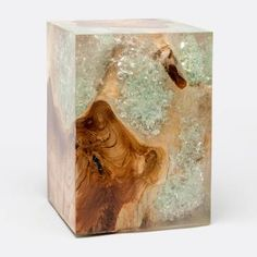 Ori Wood And Resin Side Table   Mecox Gardens