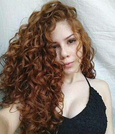 Curly Hair Tips, Long Curly Hair, Hair Dos, Wavy Hair, Curly Hair Styles, Red Hair Woman, Curly Hair Tutorial, Ginger Hair, Hair Hacks