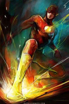 The Flash by hai ning - for zays room Dc Heroes, Comic Book Heroes, Comic Books Art, Comic Art, Flash Barry Allen, O Flash, Flash Art, Flash Point, Dc Speedsters