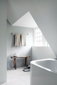Bathroom inside a remodeled 1930s villa. Design by Remy Meijers.