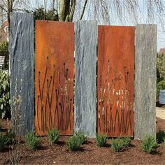 Best outdoor screen fence corten steel i. Decorative Garden Fencing, Garden Fence Panels, Garden Privacy, Decorative Screens, Garden Fences, Metal Garden Screens, Landscape Elements, Landscape Design, Privacy Fence Designs