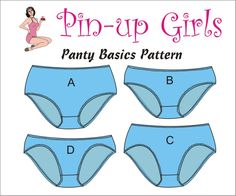 The PANTY BASICS PATTERN by Pin Up Girls. $20.00, via Etsy.