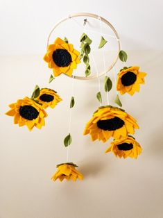Excited to share this item from my shop: Sunflower Mobile, Felt Flower Baby Mobile, Sunflower Baby Mobile, Farmhouse Baby Mobile, Sunflower Crib Mobile Sunflower Nursery, Sunflower Room, Sunflower Baby Showers, Cool Baby, Baby Crib Mobile, Baby Mobiles Diy, Crib Mobiles, Baby Mobile Felt, Flower Mobile