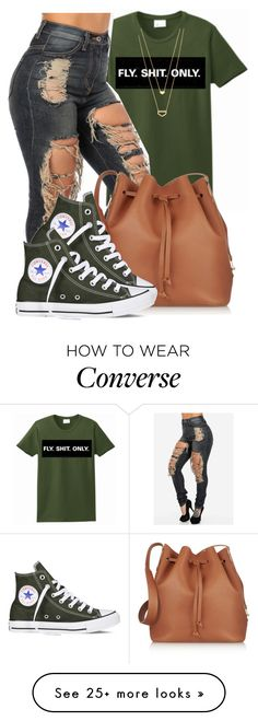 """I keep Mascara in my Pocket,if I run into the Market.Cause you neva know Who's watching You"" by bria-queen-ovoxo on Polyvore featuring Sophie Hulme, Converse and Gorjana"