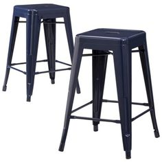Carlisle Metal Counter Stool - Set of 2  $95 for two at Target Also available in navy, grey, yellow, and green.