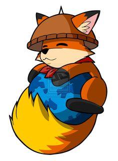 Cute Firefox fox!  Amazing on the tail.