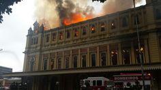 São Paulo: #Incêndio atinge Museu da Língua Portuguesa no centro de SP