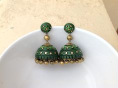 Terracotta jhumkas & earrings