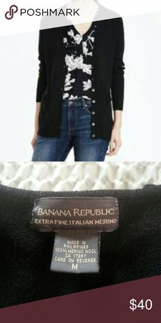 Banana Republic Cardigan Sweater Just dropped this off at the dry cleaner's today. I will update with more info, pictures and price soon ! Banana Republic Sweaters Cardigans