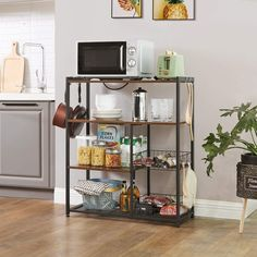 Kitchen Rack, Kitchen Shelves, Corner Shelves, Kitchen Island, Kitchen Appliance Storage, Kitchen Utensils, Microwave Stand, Microwave Shelf, Microwave Oven