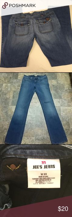 """Joe's Jeans, bootcut, size 29 Joe's Jeans, size 29, bootcut. Ocean blue, 32"""" inseam. Purchased on here, but unfortunately too small for me. 😕. In great condition! Joe's Jeans Jeans Boot Cut"""